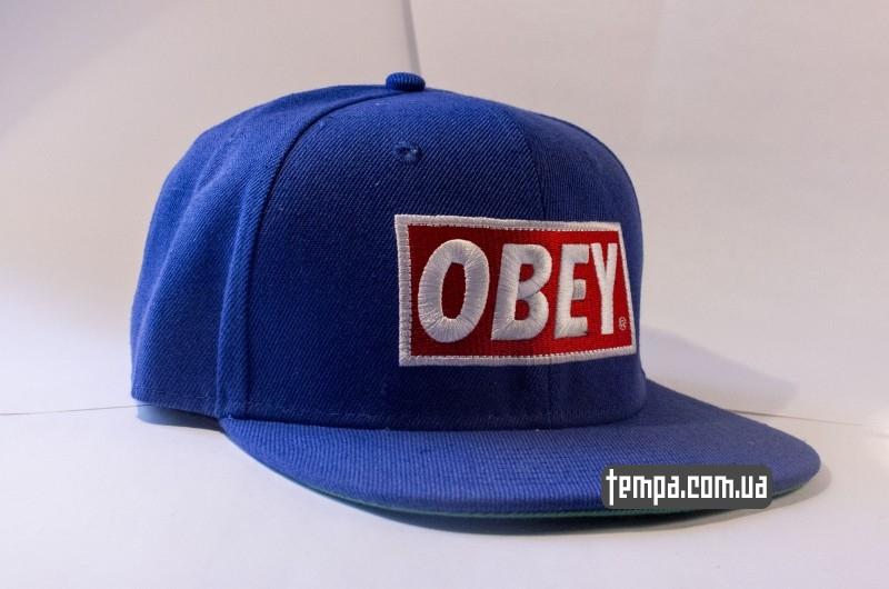 Кепка Obey Snapback синяя | Tempa