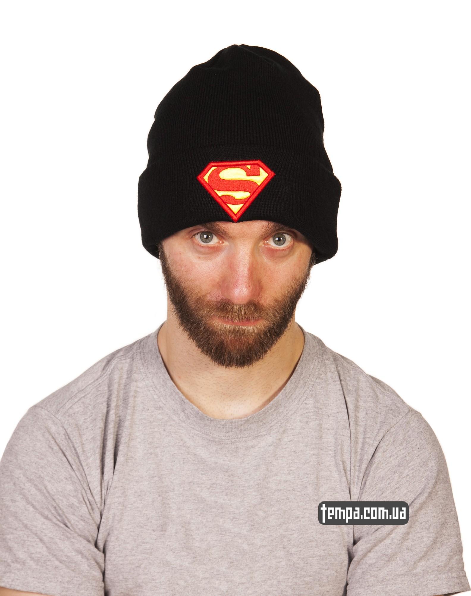 теплая зимняя шапка superman New Era DC Comics