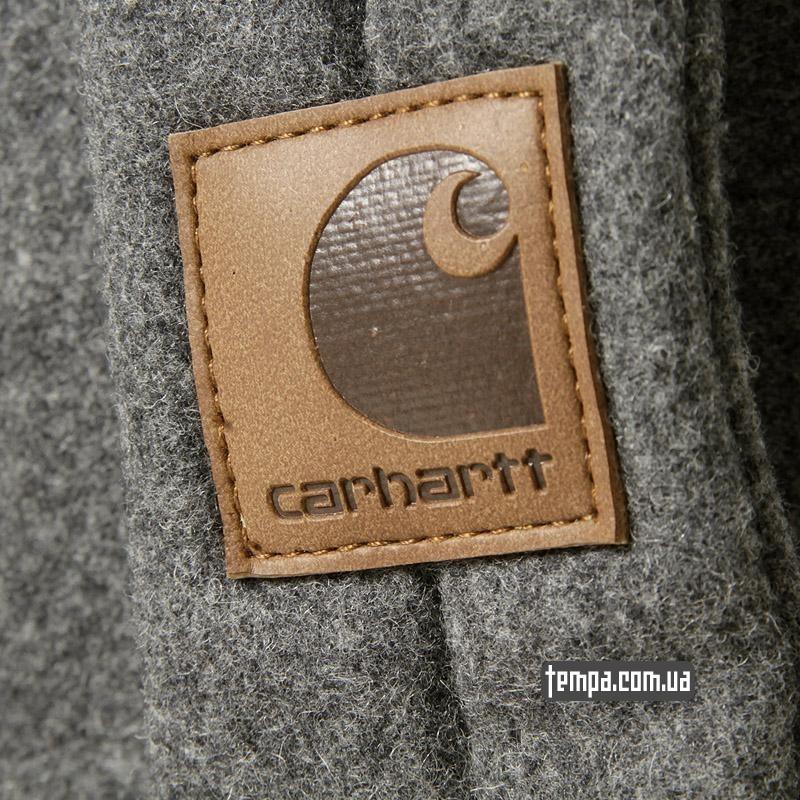 carhartt кожа лого кепка