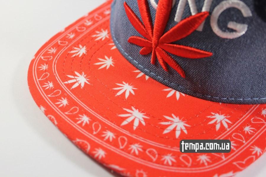 Кепка Snapback Чич Чонг Cheech Chong джинсовая с марихуаной коноплей Cayler  Sons 4319b209f6305