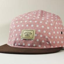 Пятипанельная кепка розовая в горошек Cayler and Sons коричневый козырек
