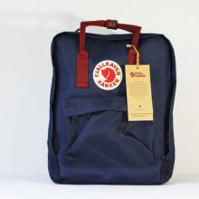 Рюкзак FJALLRAVEN Kanken 16 л. Classic синий с красными ручками молодежный backpack