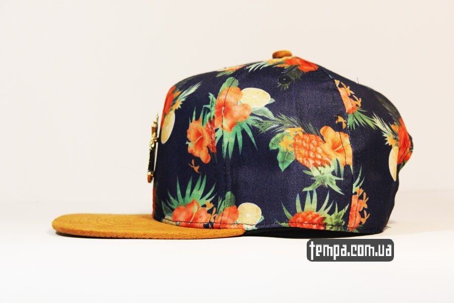 Кепка Snapback Cayler and Sons Ananas Hawaii летняя с цветами  0c8500135b15e