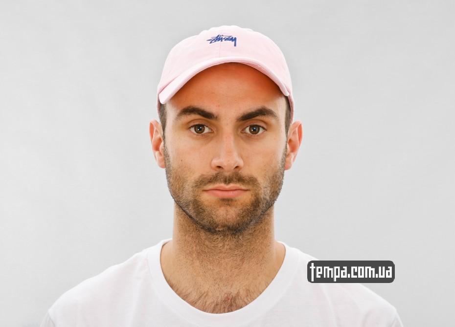 stussy pink cap укарина купить с доставкой