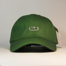 Кепка бейсболка LACOSTE зеленая green с логотипом аллигатора