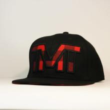 Кепка бейсболка Snapback TMT The Money Team черная с красной клеткой