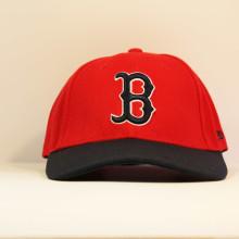 Кепка бейсболка Boston Red Socks NEW ERA красная с круглым козырьком
