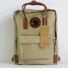 Рюкзак FJALLRAVEN Kanken No. 2 Classic хаки коричневый, кожаный логотип