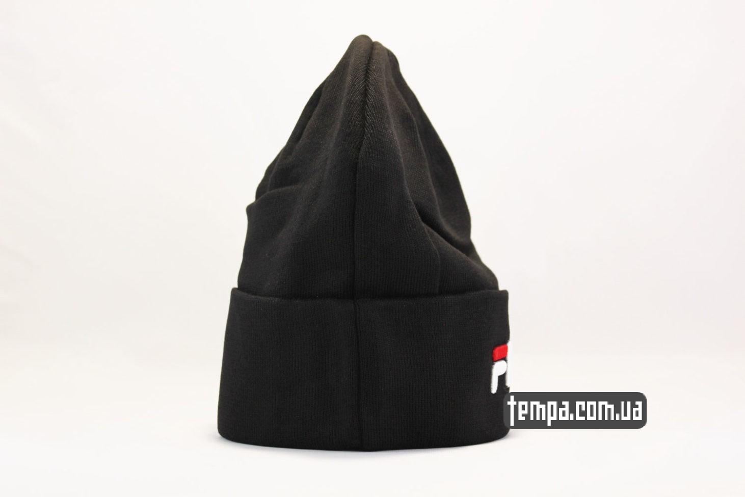 Шапка beanie FILA черная бини купить Украина магазин  3a93868be2996