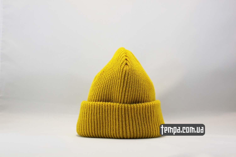 Короткая шапка Beanie ASOS желтая бини без логотипов 37da48286149c