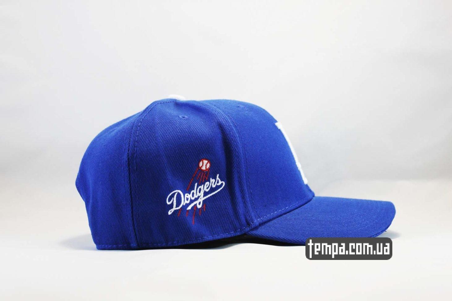 гнующийся козырек кепка бейсболка snapback LA Los Angeles Dodgers New Era синяя купить