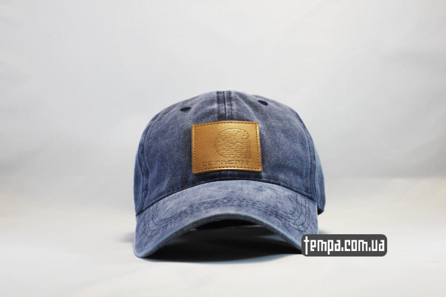 кепка Carhartt бейсболка джинсовая синяя купить