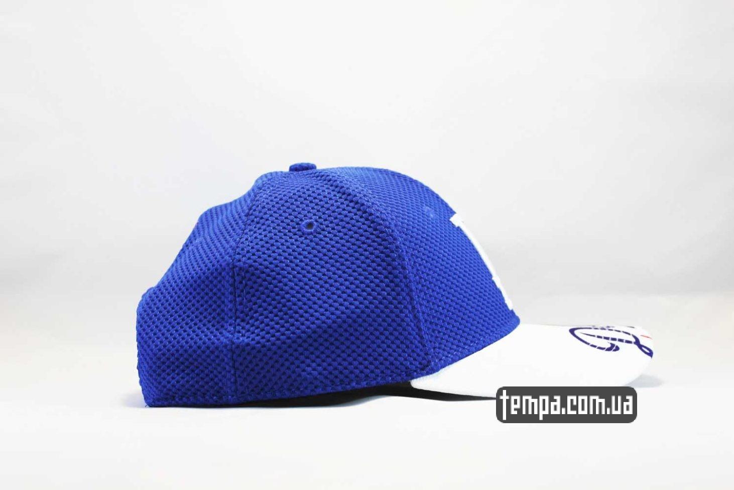 синяя кепка бейсболка LA Los Angeles New Era тракер в сеточку