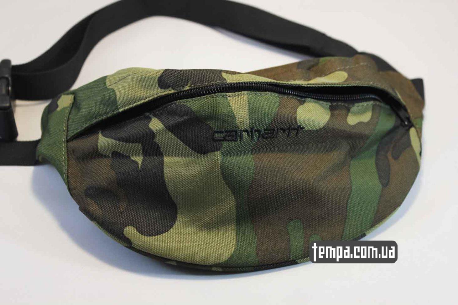 Carhartt магазин поясная сумка бананка Carhartt Fanny Pack военного цвета