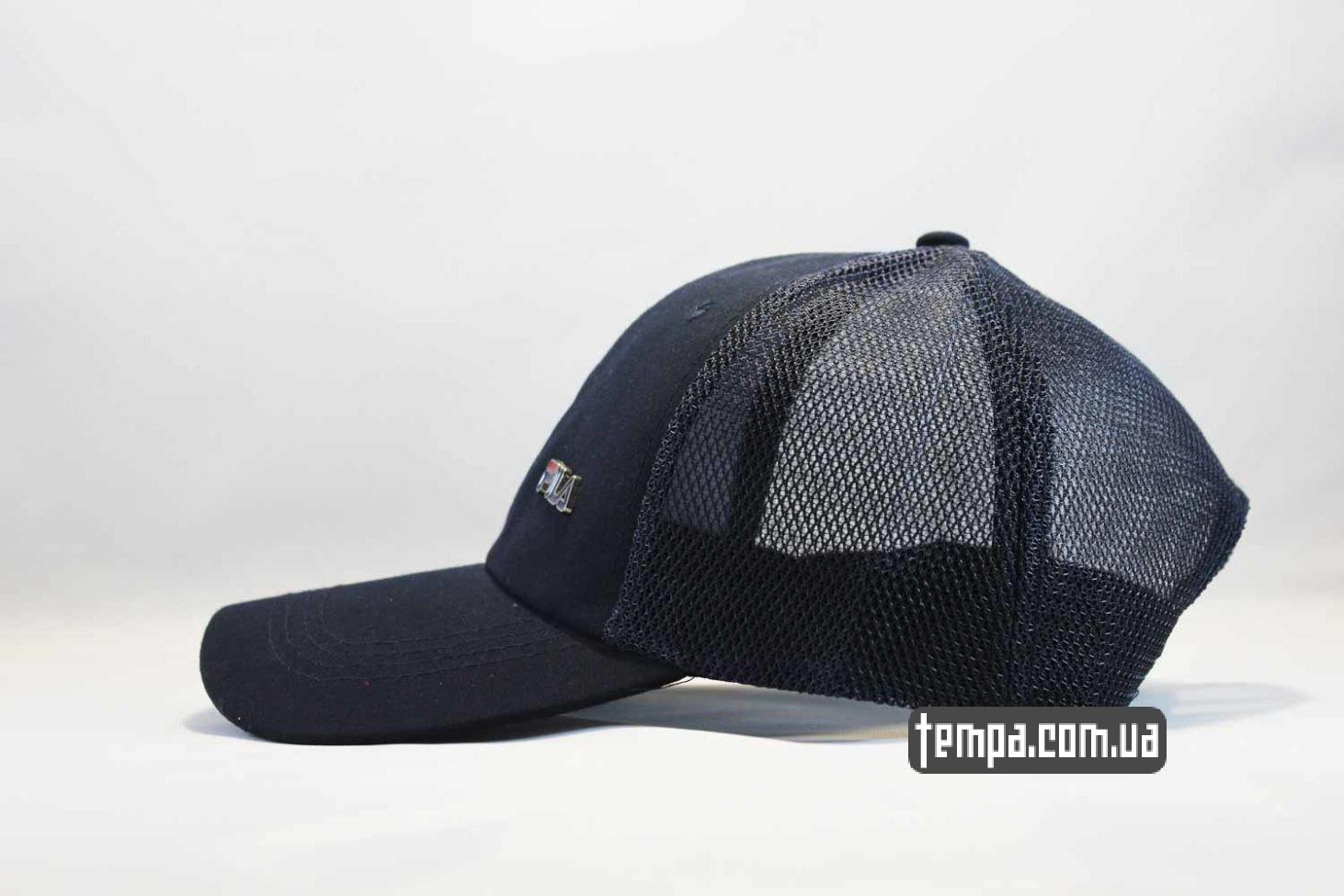 FILA украина купить кепка бейсболка fila синяя trucker с сеточкой