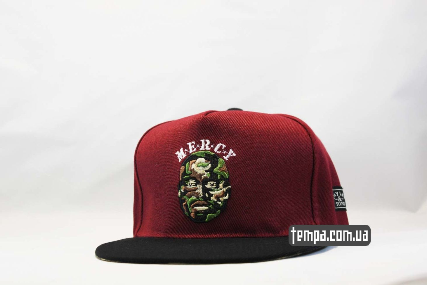 кепка snapback MERCY Drake бордовая cayler and sons