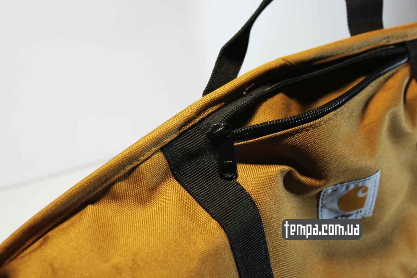 оригинальная одежда carhartt сумка через плечо carhartt bag коричневая купить Украина