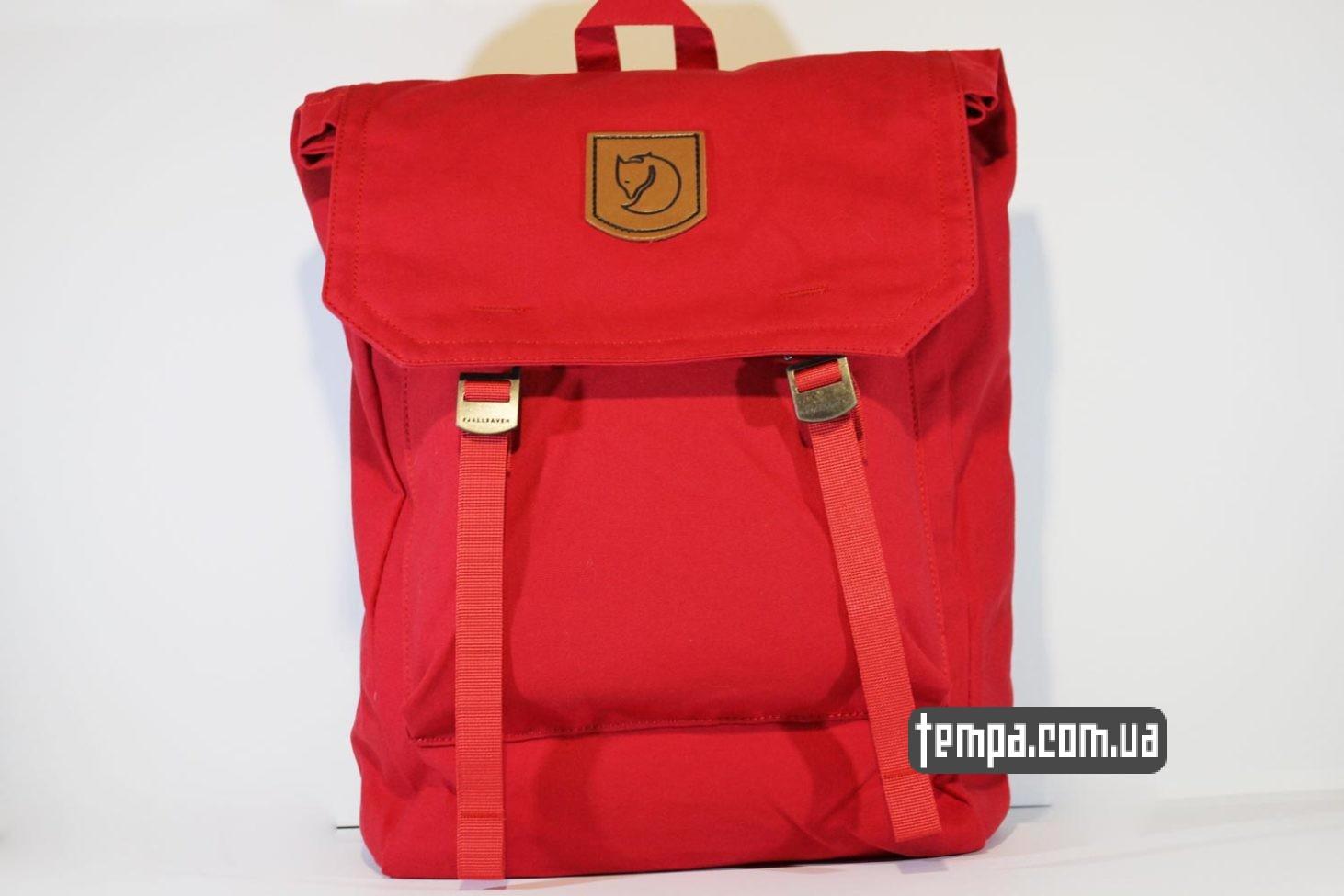 рюкзак сумка Fjällräven Foldsack No.1 Ox красная
