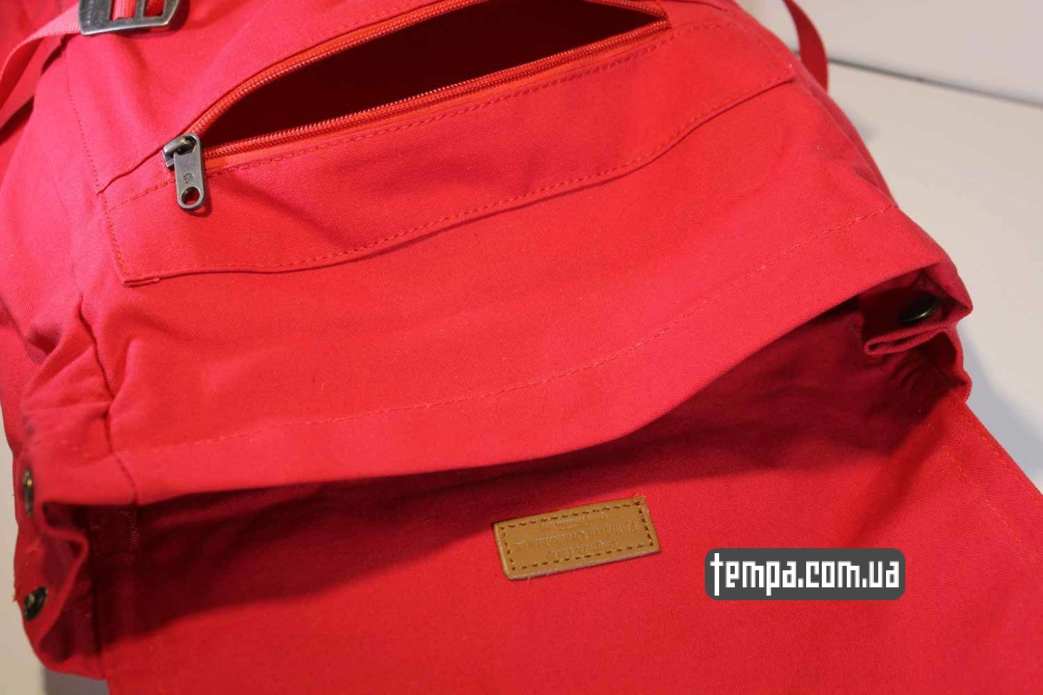 унисекс школьный для университета рюкзак сумка Fjällräven Foldsack No.1 Ox красная