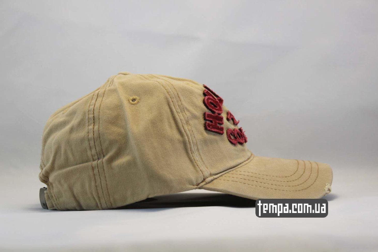 белая кепка бейсболка hollister company бежевая джинсовая