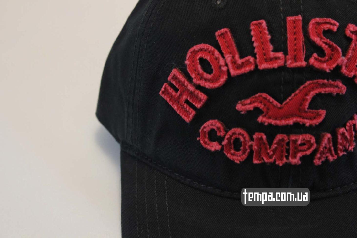 hollister company кепка бейсболка hollister черная с логотипом и чайкой