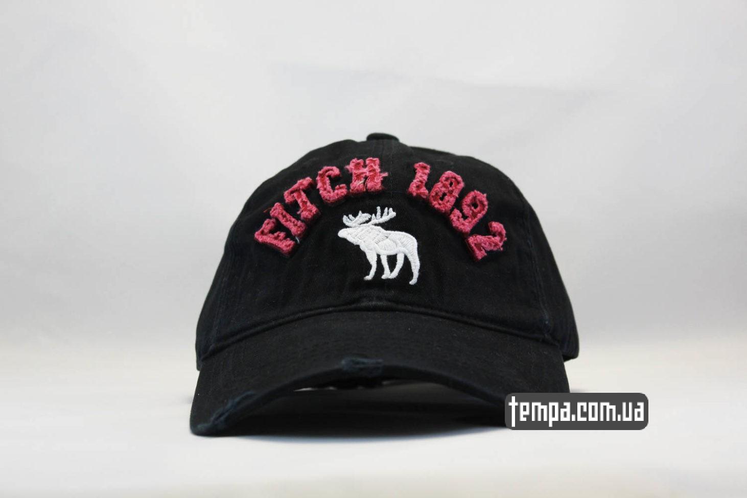 кепка бейсболка Abercrombie Fitch 1892 Holister черная