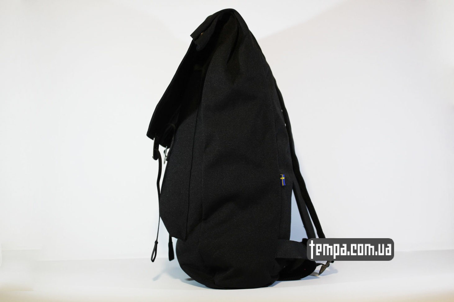 логотип лисы лисчки рюкзак сумка Fjallraven Foldsack No.1 Backpack черный