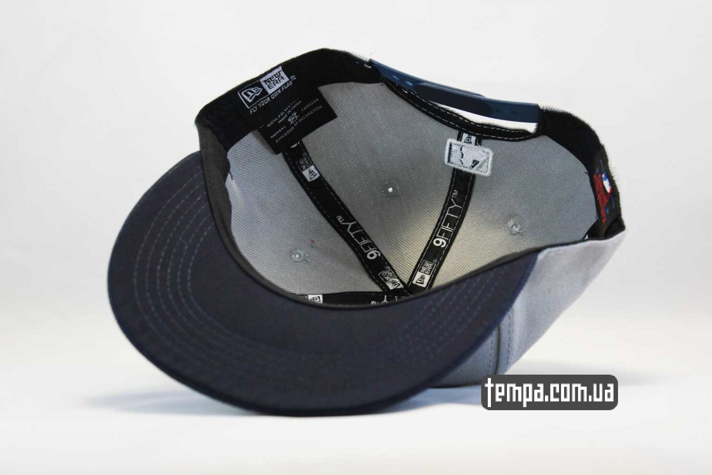оригинал ньюэра украина кепка snapback Yankees New York NY New Era серая с синим логотипом