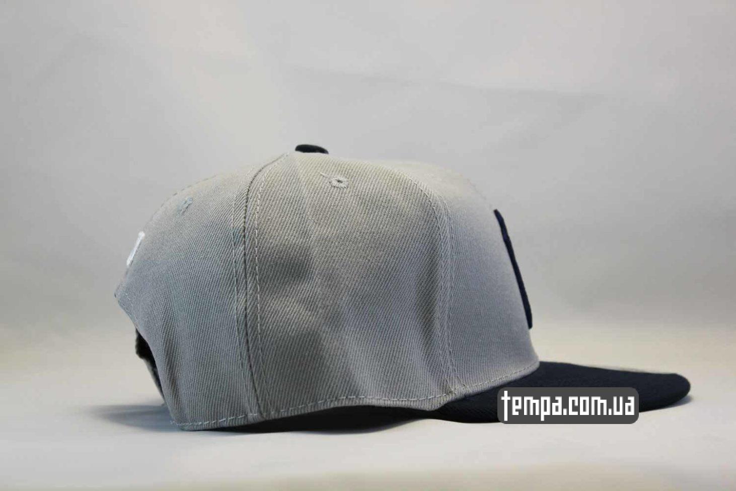 янкис нью йорк нью эра кепка snapback Yankees New York NY New Era серая с синим логотипом