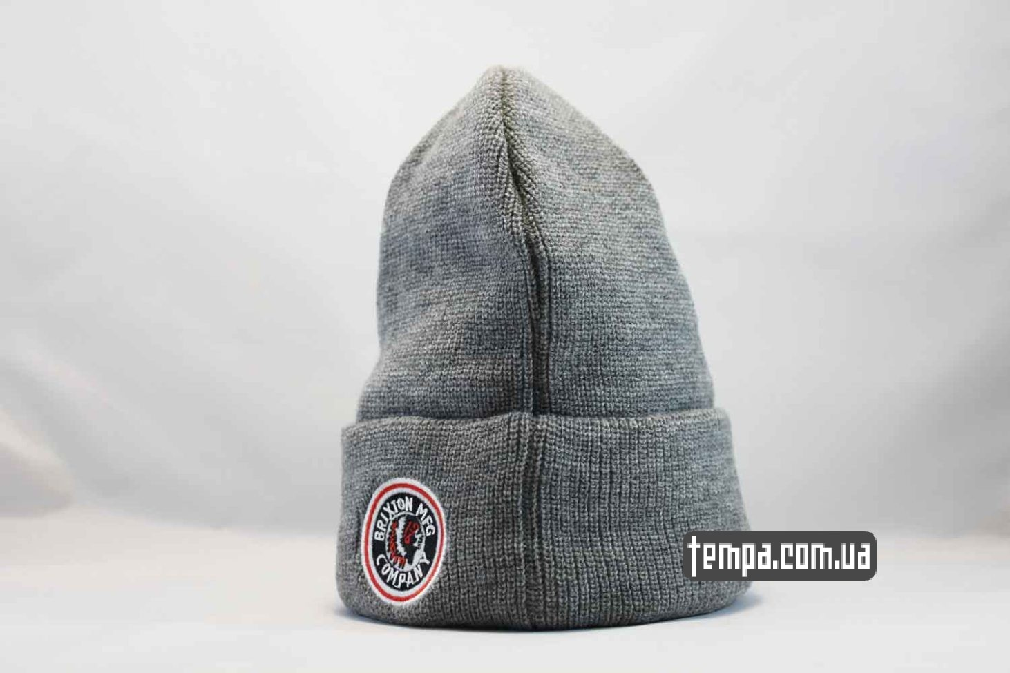 брикстон Украина шапка beanie BRIXTON MFG CO серая indian с индейцем