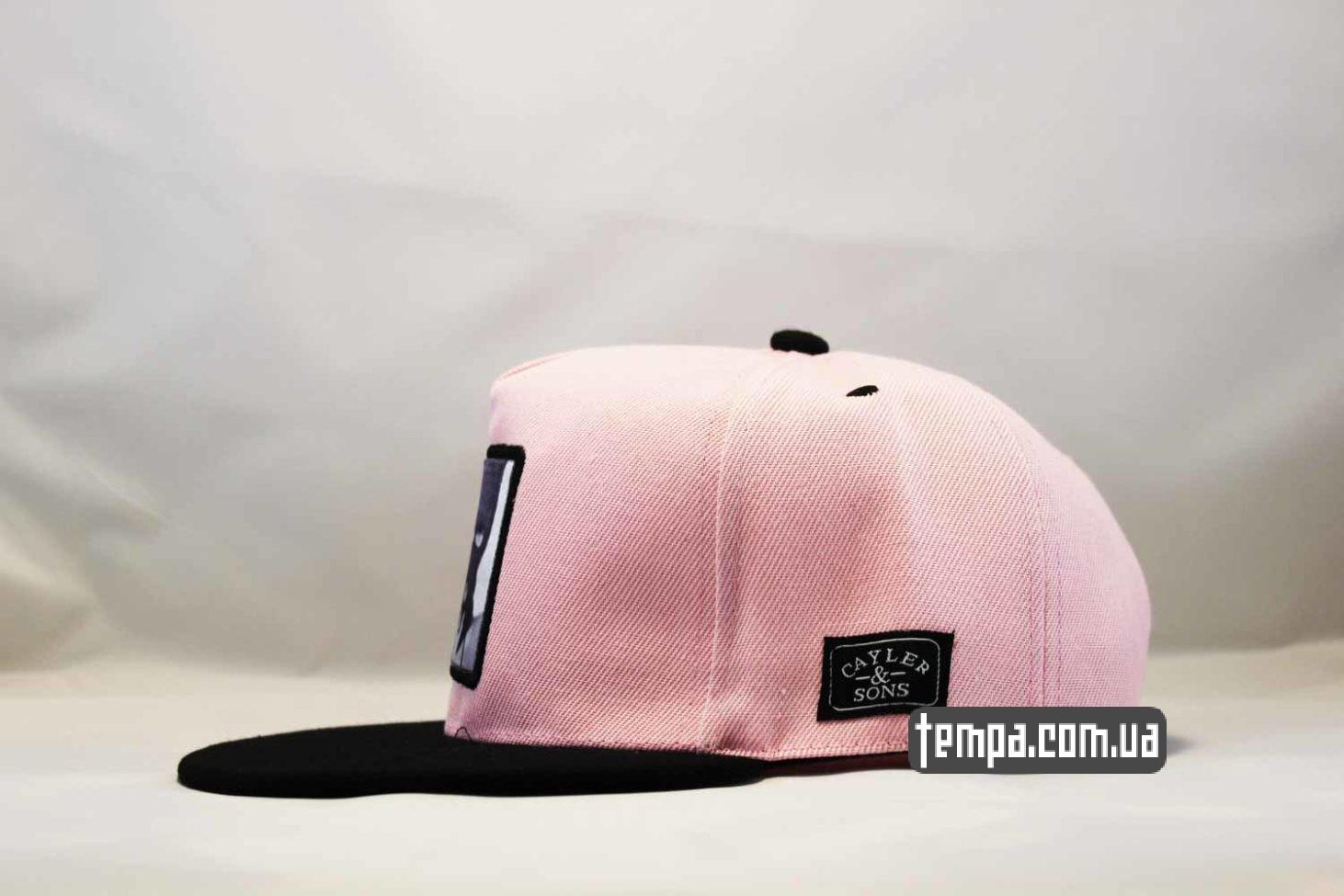 реперская бейсболка кепка snapback pink killer cayler and sons розовая