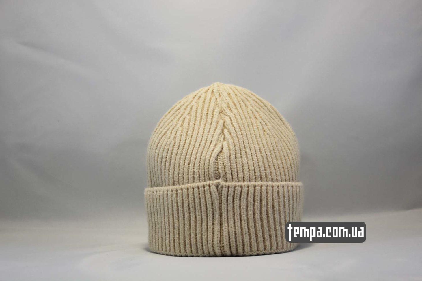 бини магазин одежды шапка beanie Carhartt бежевая купить Украина