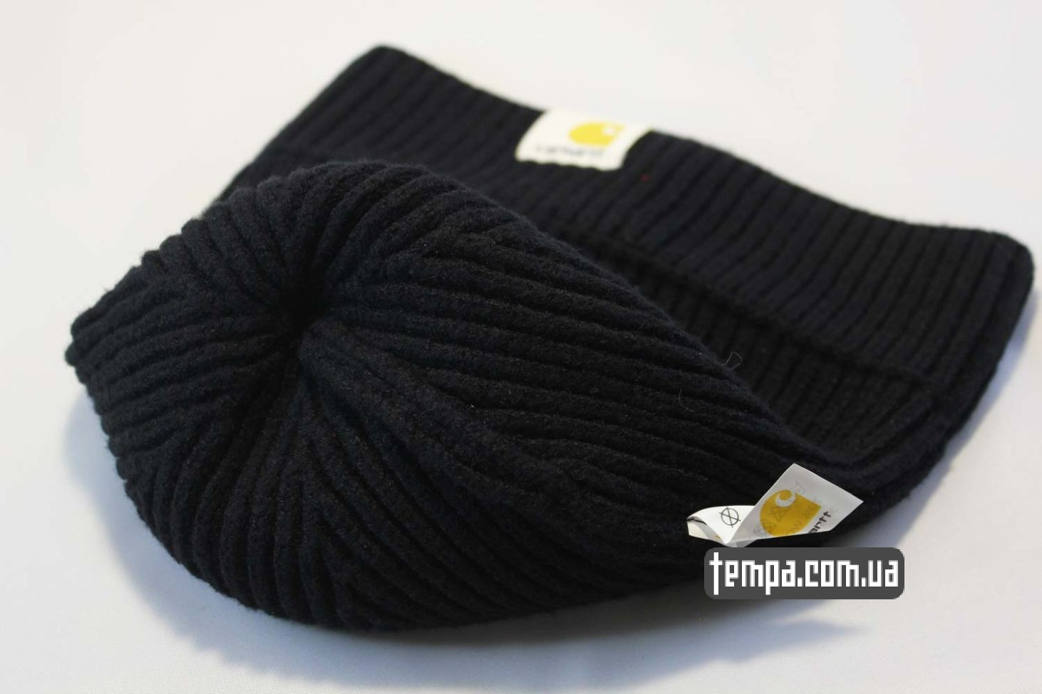 бини шапки магазин шапка beanie Carhartt черная купить Украина