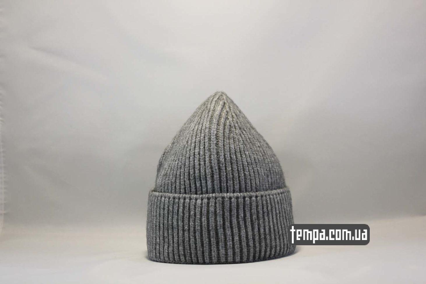 короткая шапка beanie Carhartt grey серая купить магазин