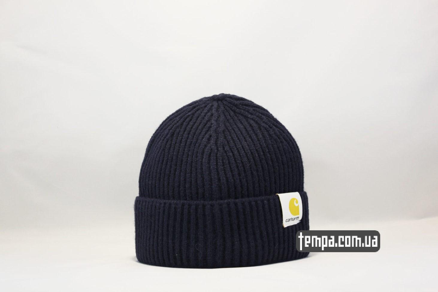 шапка beanie Carhartt Blue синяя магазин купить