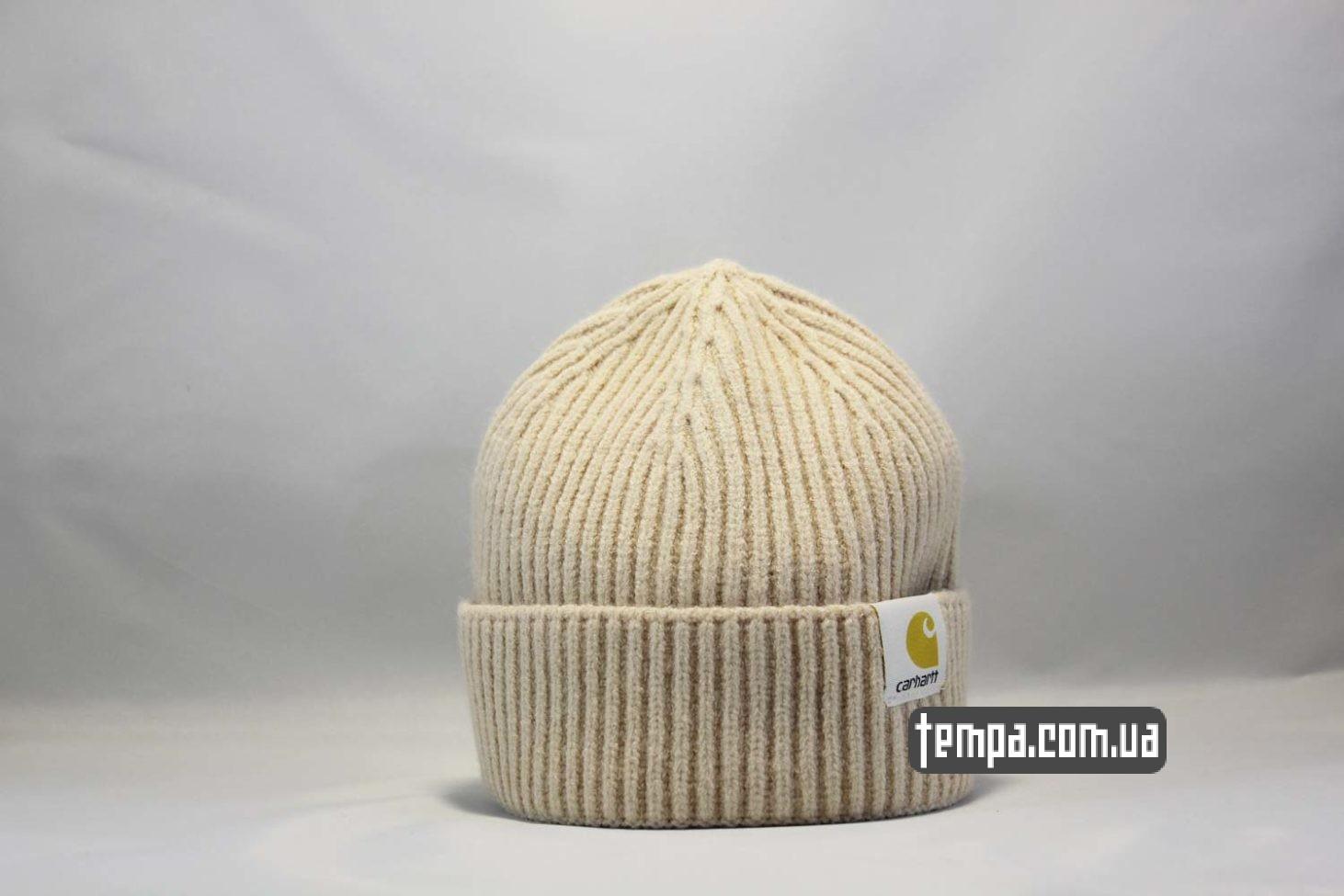 шапка beanie Carhartt бежевая купить Украина