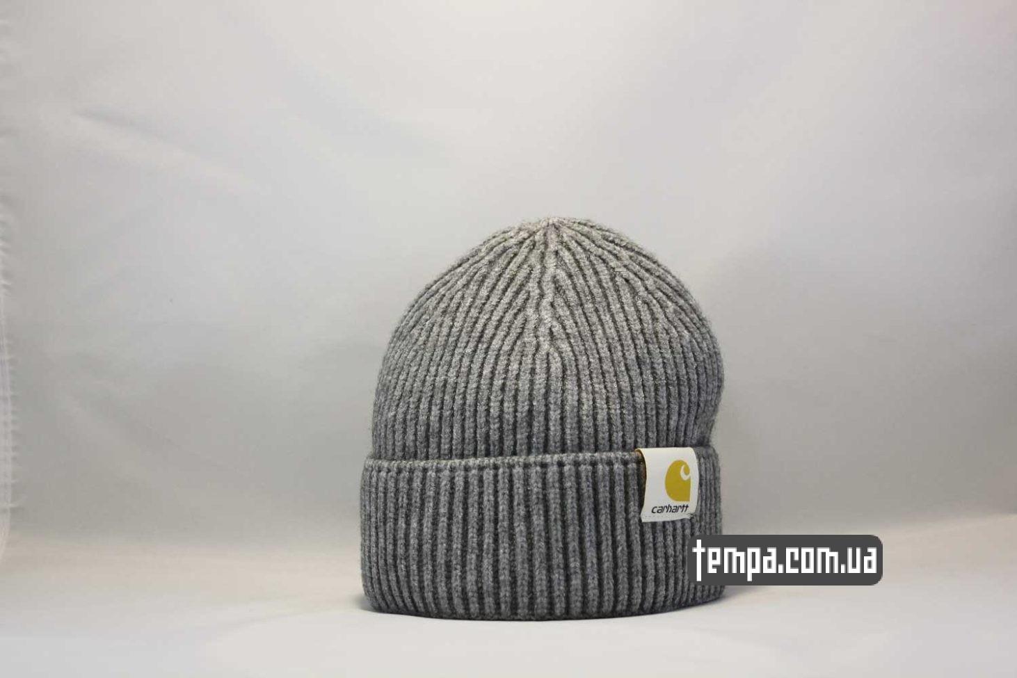 шапка beanie Carhartt grey серая купить магазин