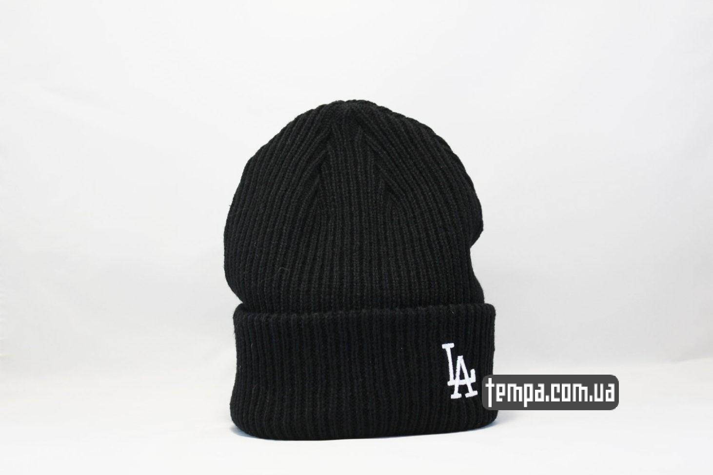 шапка beanie LA Los Angeles New Era black черная