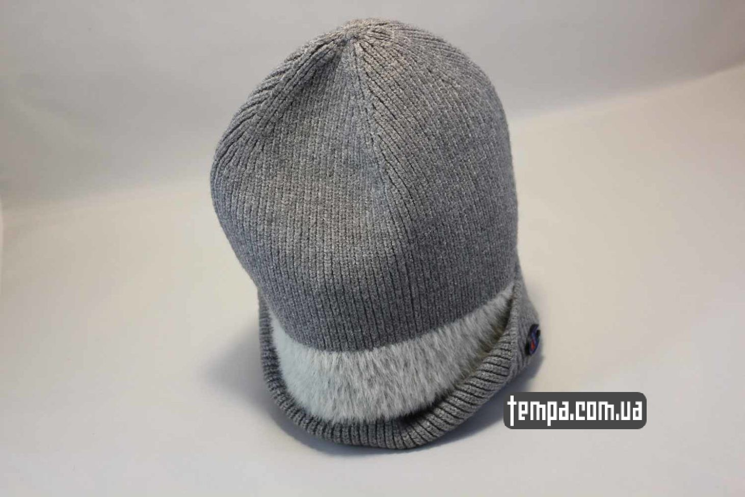 теплая зимняя шапка beanie champion серая Украина купить