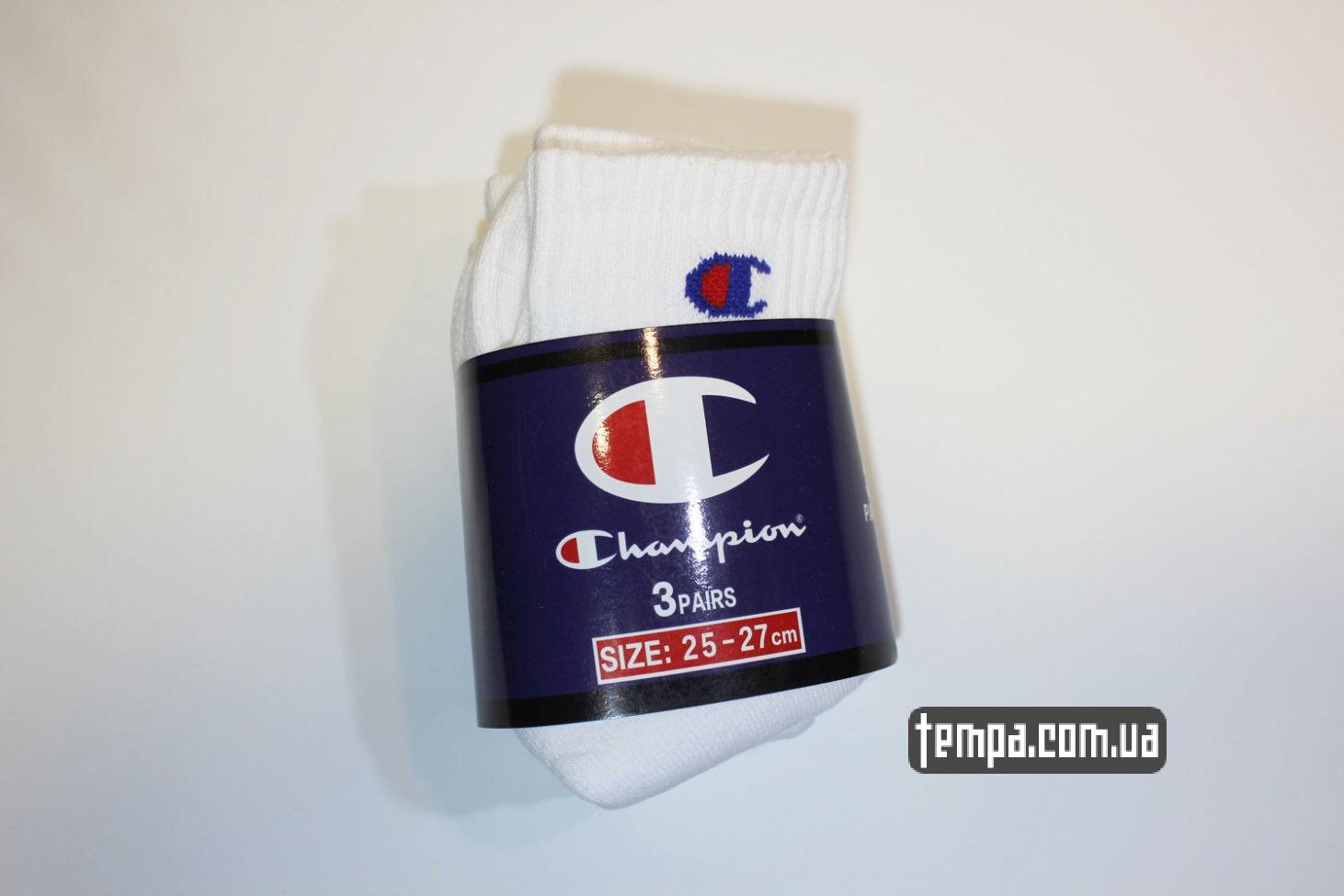 чемпион носки купить носки champion средние белые tube socks white