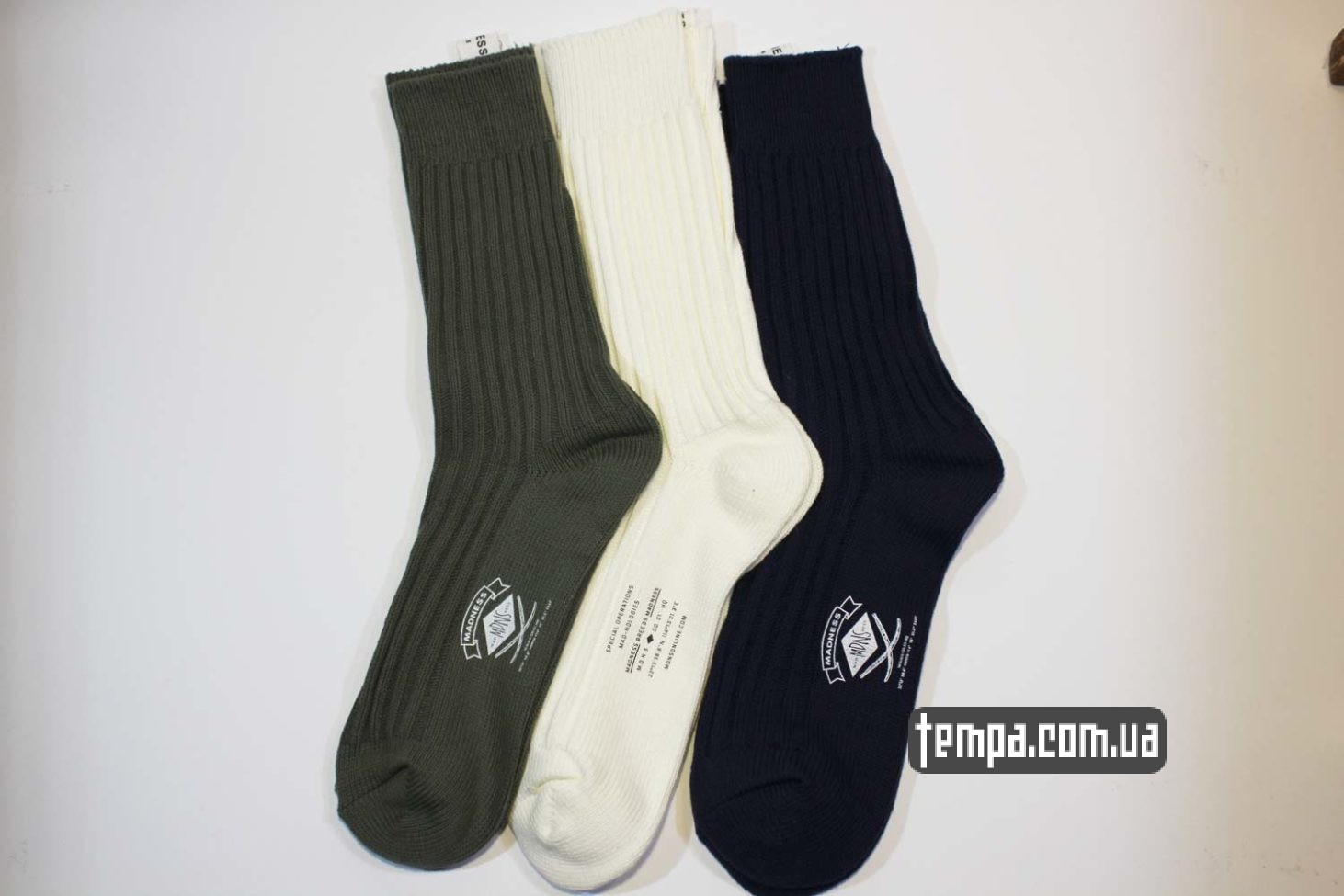 теплые зимние высолкие носки MADENESS зеленые бежевые синие