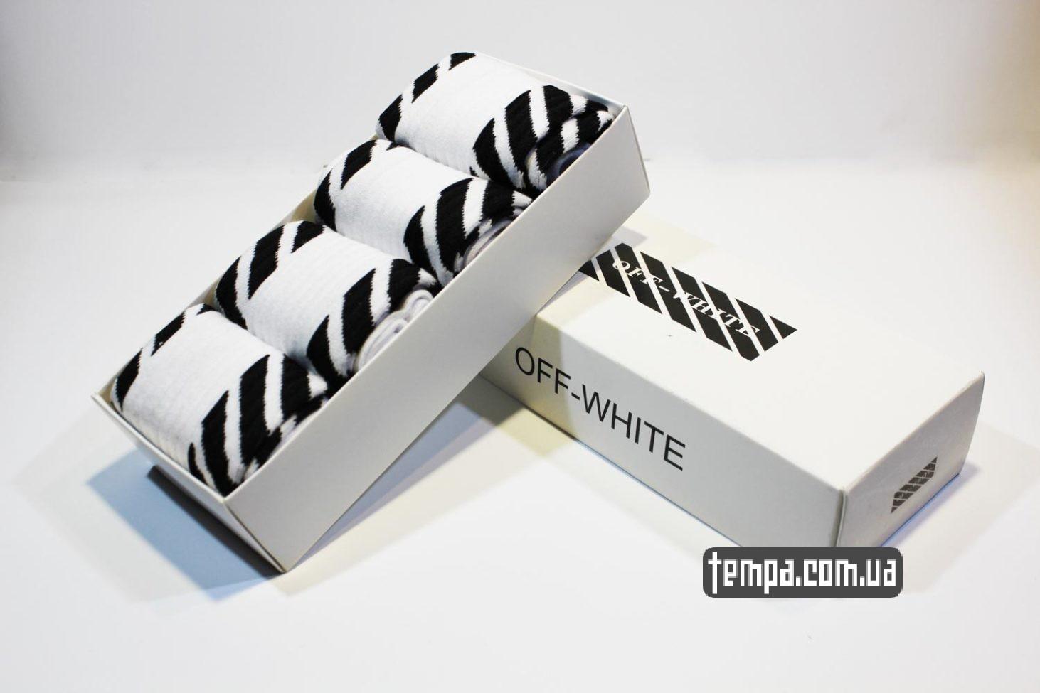 высокие носки OFF WHITE белые купить