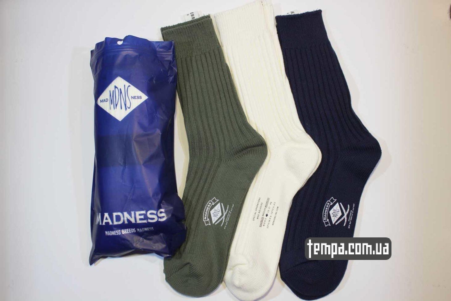 высолкие носки MADENESS зеленые бежевые синие