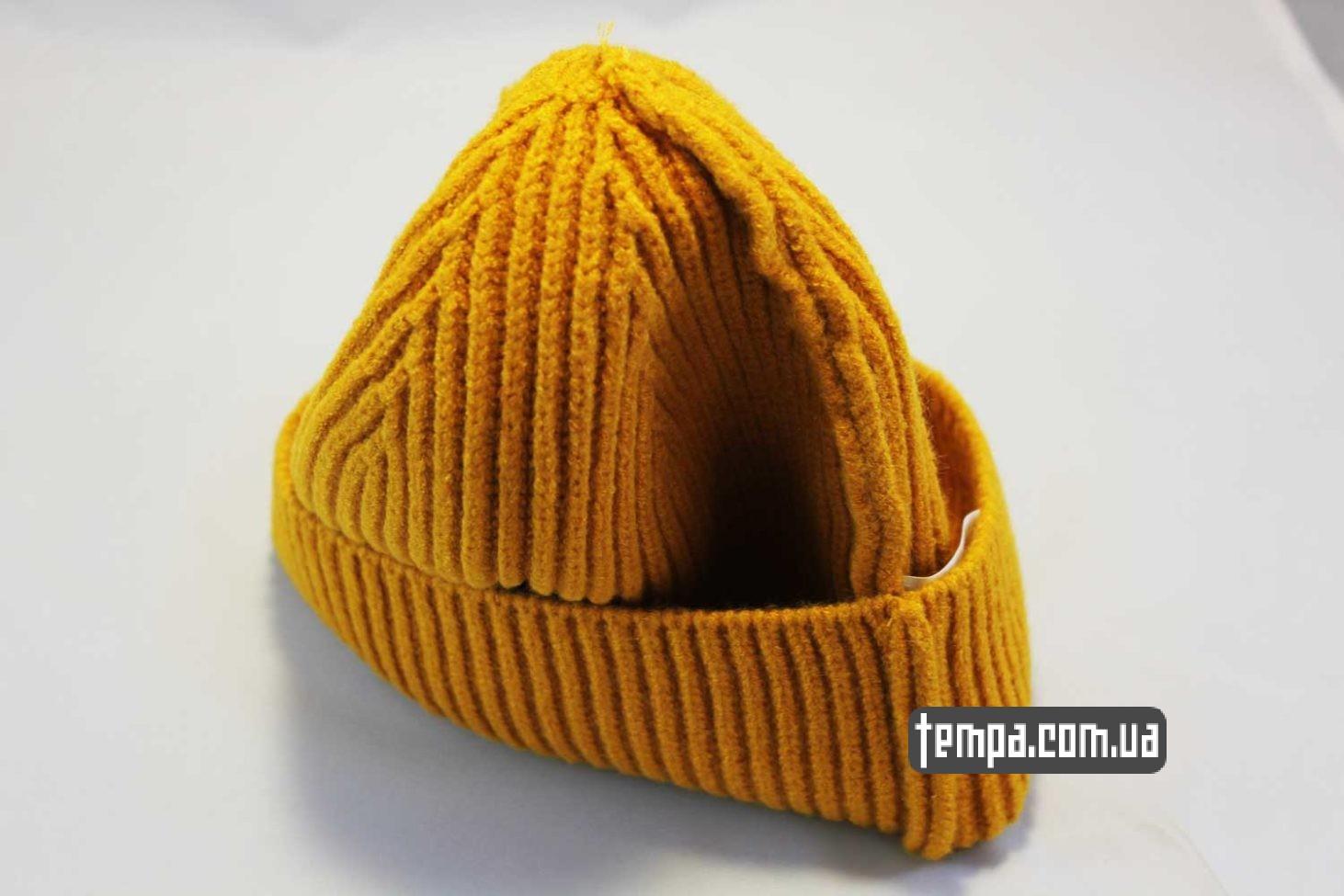 бини теплые где купить шапка beanie Carhartt оранжевая шерстяная