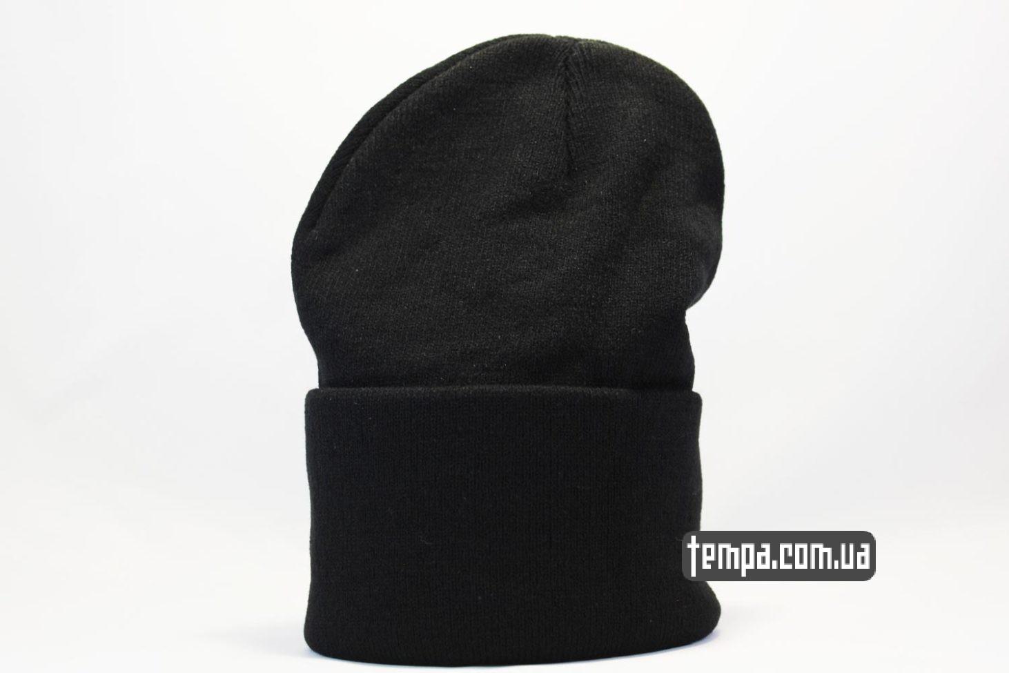 black черная шапка beanie чисто черная без надписей ASOS купить Украина