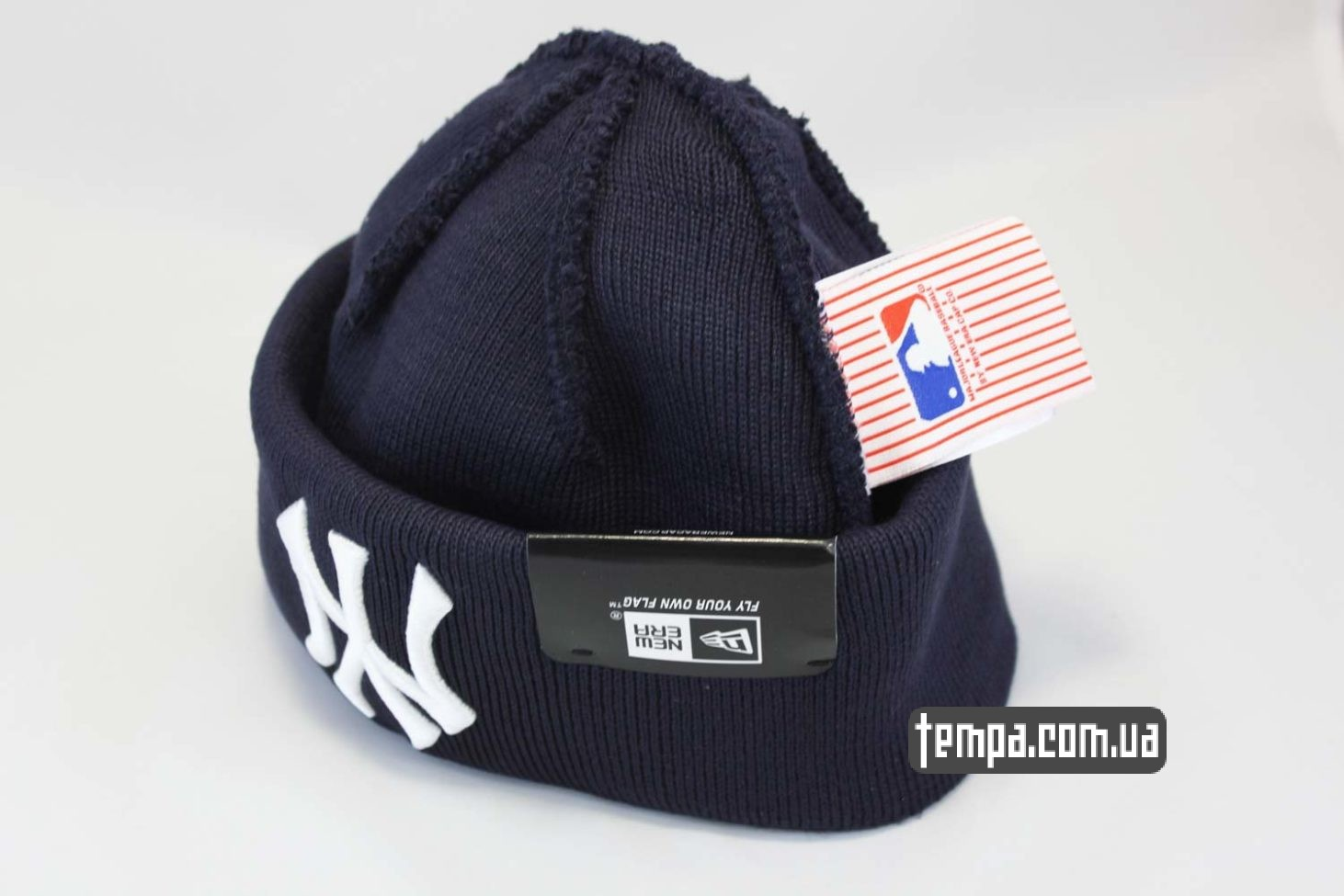 купить оригинальную шапка beanie New York Yankees New Era темно-синяя
