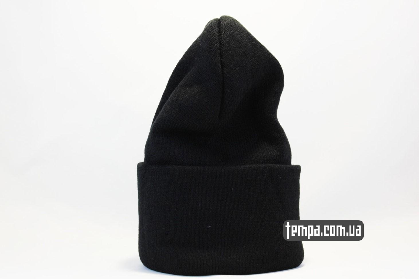 plain шапка beanie чисто черная без надписей ASOS купить Украина
