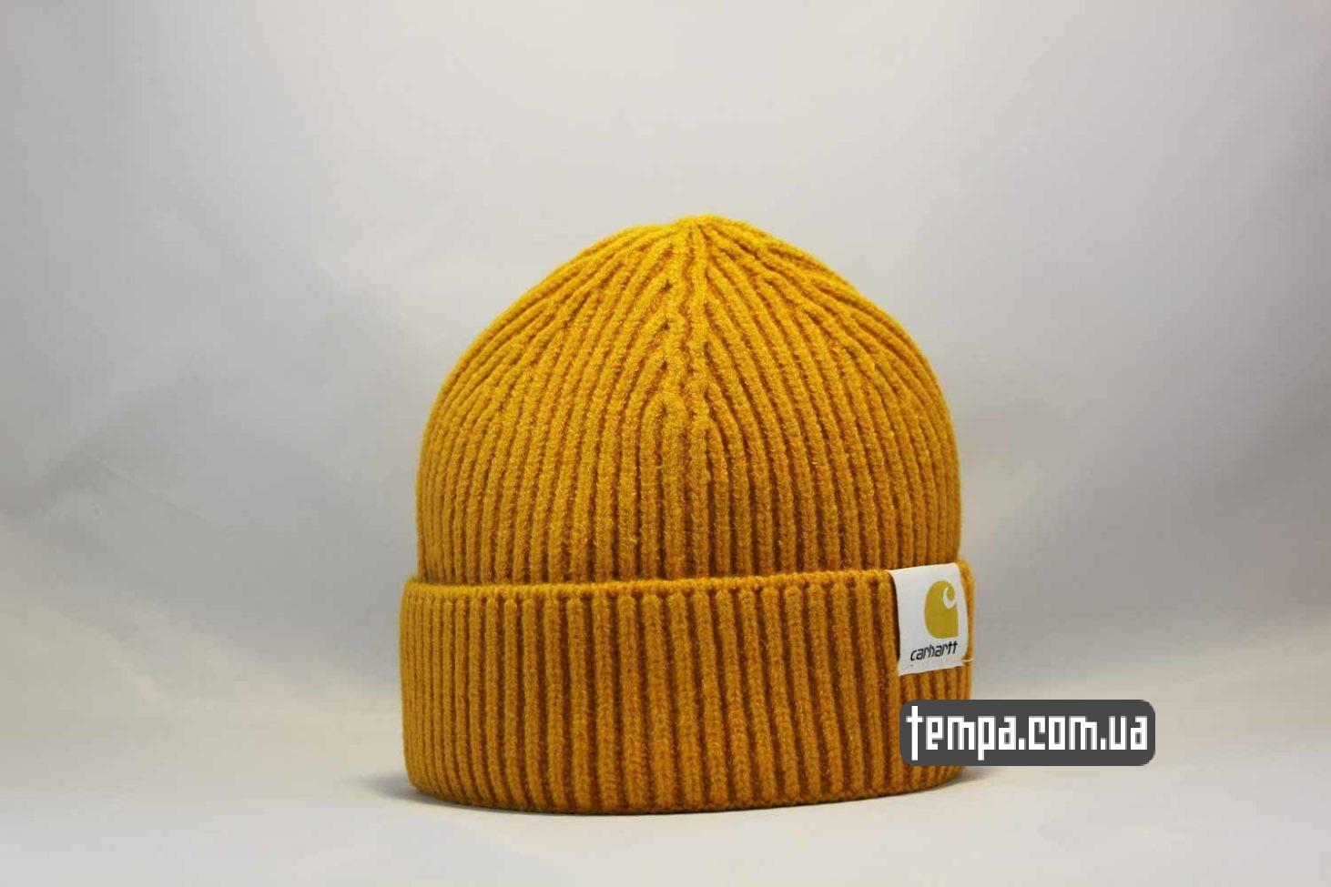 шапка beanie Carhartt оранжевая шерстяная