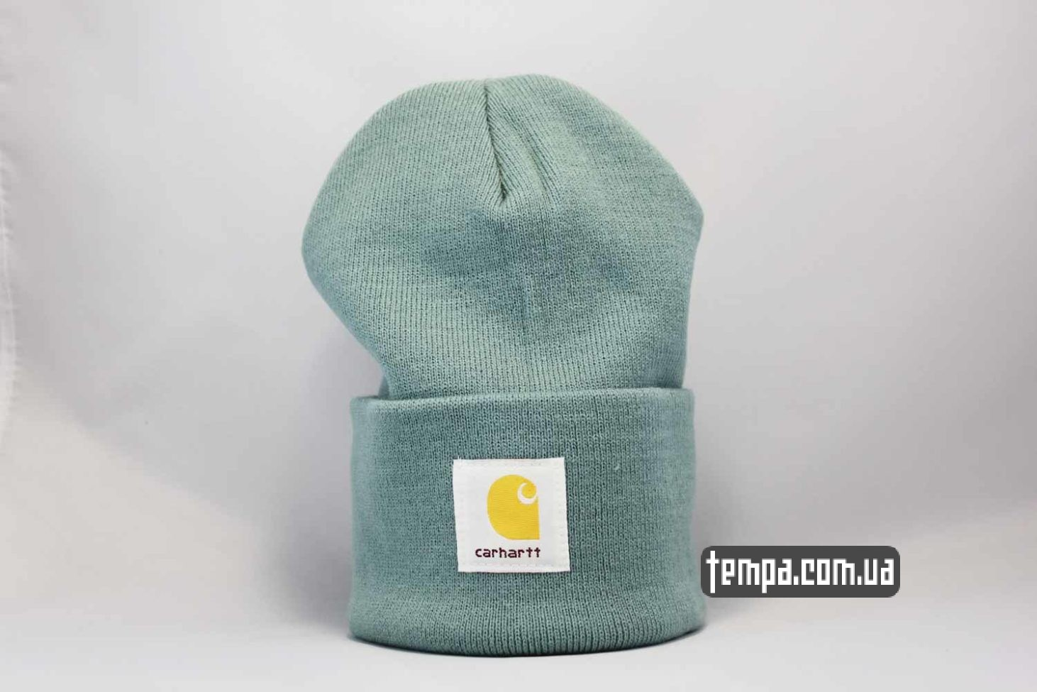 шапка beanie Carhartt зеленая оригинал купить