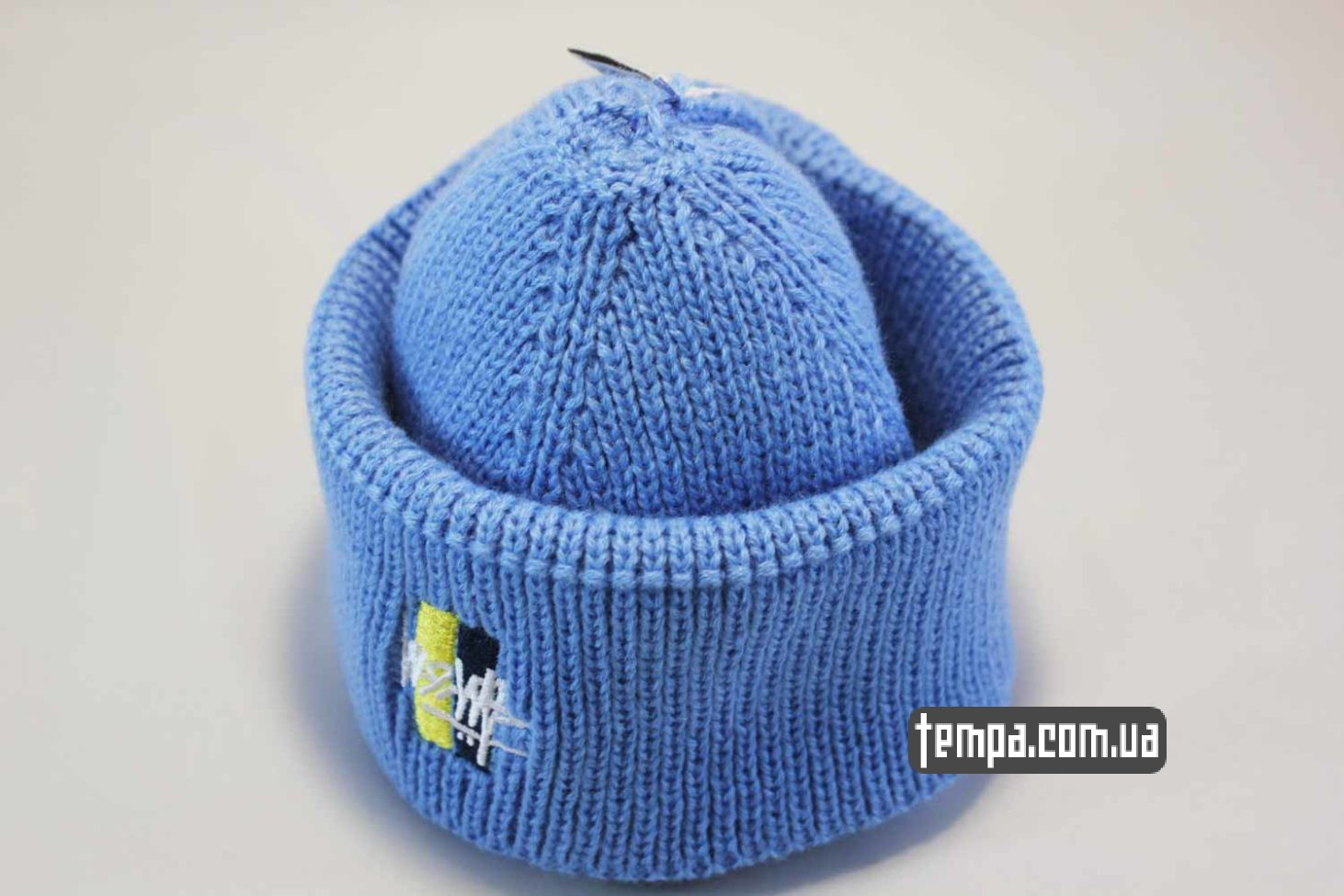 стасси украина купить шапка beanie STUSSY Ukraine edition синяя с украинским флагом